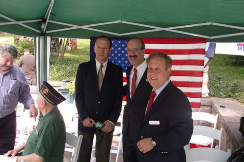 Assemblyman Abinanti at Hastings 2012 Memorial Day Parade with Mayor Peter Swiderski and Congressman Eliot Engle.