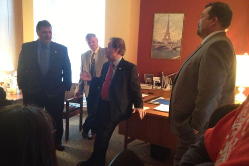 Assemblyman Abinanti meets in Albany with members of the Plumbers & Steamfitters Local 21, including Business Manager Bob Philip and Business Agent Joseph E. Dullea, to discuss ways to increase the number of construction jobs in the Lower Hudson Valley.