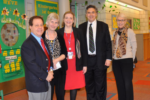 Assemblyman Abinanti meets with Regina Kelly (Govt. Relations Officer), Joelle Mast, MD (Chief Medical Officer), Larry Levine (President), Ellen Bergman (Supt. Mount Pleasant-Blythedale Union Free School District) at Blythedale Childrens Hospital.