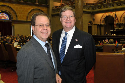Assemblyman Abinanti and Honorable Peter Harckham, Majority Leader, 2nd District, Westchester County Board of Legislators.