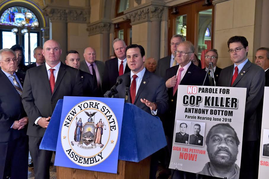 Assemblyman Kevin Byrne joins lawmakers from across the state in calling for convicted cop- killer Anthony Bottom to remain behind bars.<br />&nbsp;