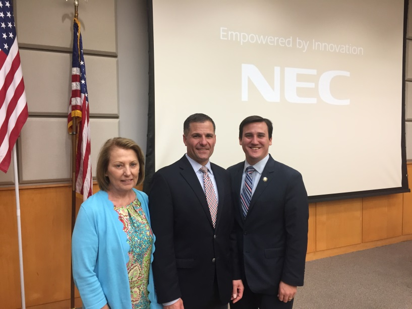 (Left to right) Putnam County Legislator Barbara Scuccimarra, Dutchess County Executive Marc Molinaro and Assemblyman Kevin Byrne offered remarks in support of the region&rsquo;s commitment to the ThinkDIFFERENTLY initiative at a community forum on Friday, May, 25.<br /><br />&nbsp;