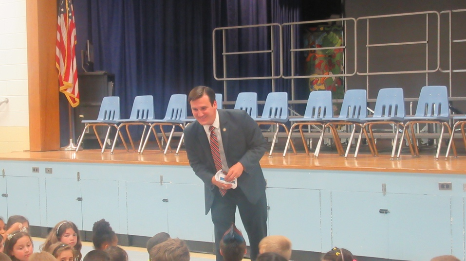 Assemblyman Kevin Byrne visited with students at Matthew Patterson Elementary school to celebrate the start of the New York State Assembly Summer Reading Challenge on Friday, June 8.