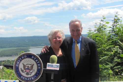 Sandy joined US Senator Chuck Schumer to discuss potential changes at the federal level that could help Constitution Island located in Cold Spring to serve as a hub of tourism.