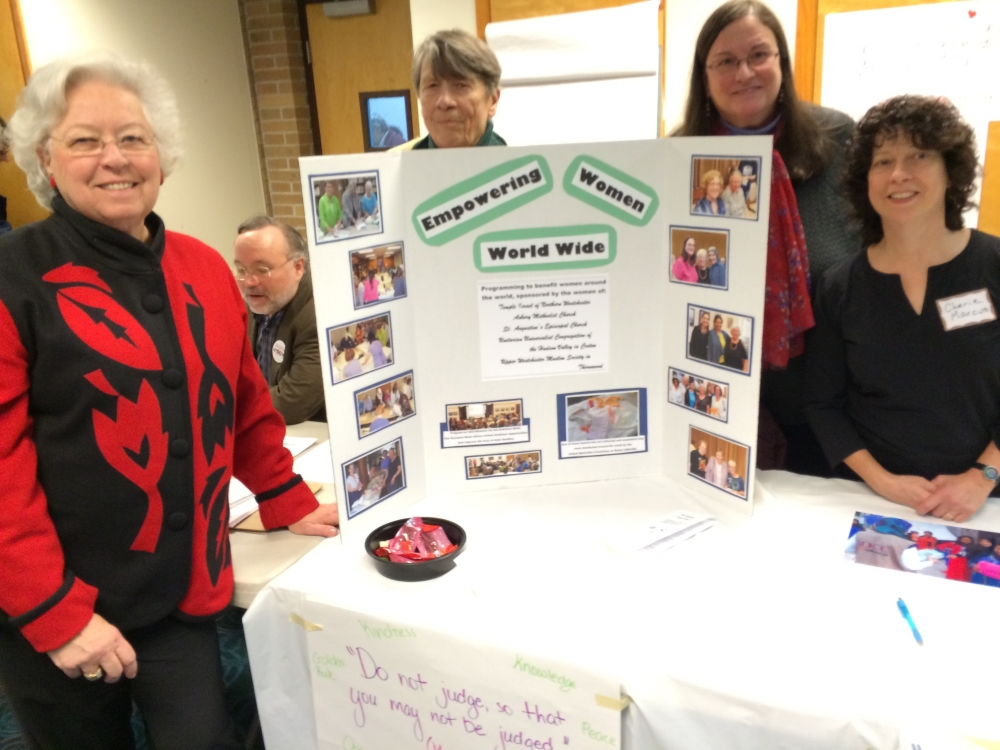 Sandy joined some of her constituents at the Croton Justice Fair in January 2016.<br />
