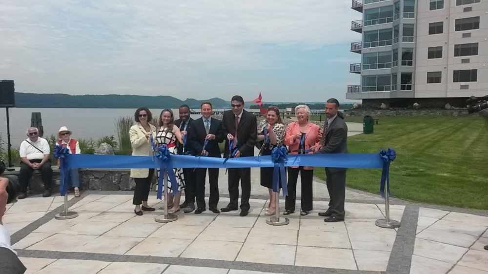 Sandy attended the ribbon cutting for the new Harbor Square apartments and Henry Gourdine Park in Ossining alongside other elected officials and the project's developer.<br /> <br />