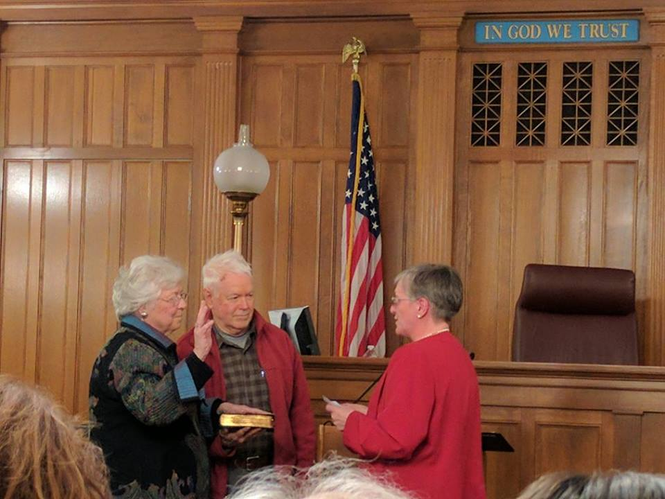 Sandy was sworn in in January 2017 at a ceremony in Putnam County.