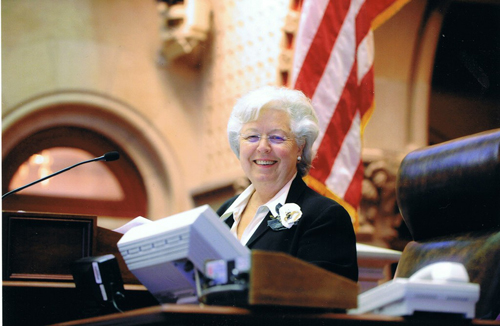 Sandy as Speaker for the Day in the New York State Assembly.