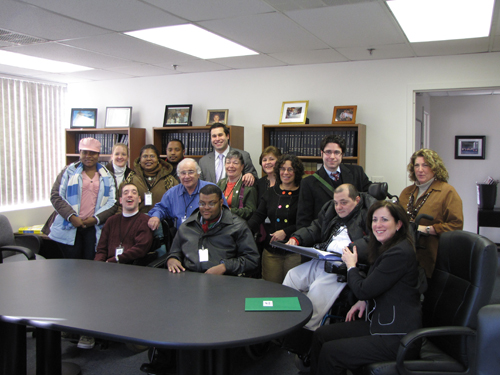 Ken Zebrowski meets with Jawonio advocates to listen to their concerns and discuss the issues their organization is facing.