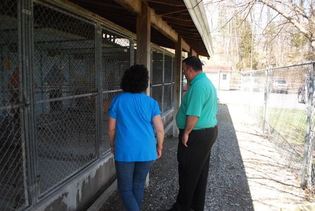 Assemblyman Karl Brabenec (R,TCN-Deerpark) [right] poses with Humane Society President, Suzyn Barron, bringing awareness to prevent animal cruelty at the Warwick Valley Humane Society.
