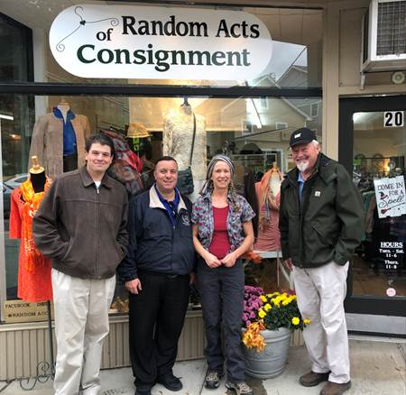 Brabenec visits Random Acts of Consignment, a consignment shop on Main Street in Florida owned by Cheryl and Doug Petersen, who were farmers before opening up the shop in their retirement.