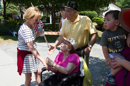 Aileen meets constituents at the 4th of July parade in Liberty.