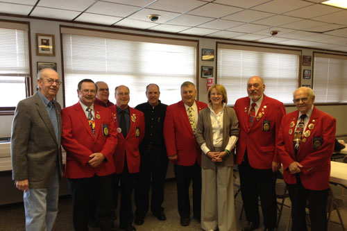 Aileen meets with firefighters at the Volunteer Firefighters� Association Legislative Breakfast.