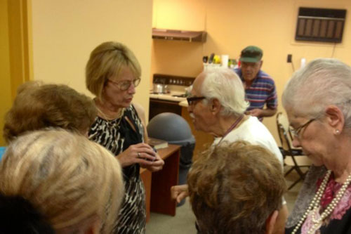 Aileen meets with seniors in South Fallsburg as part of her �Senior Tour.�