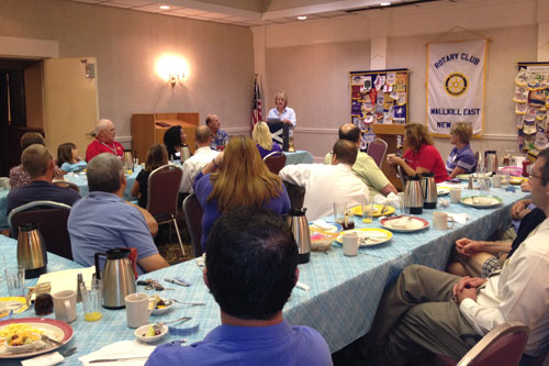 Aileen speaks to Wallkill East Rotary about spurring economic growth in the region.