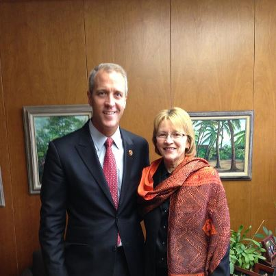 Aileen welcomed Congressman Sean Maloney to Albany.