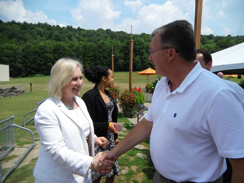 Assemblyman Miller and U.S. Sen. Kirsten Gillibrand recently toured Brewery Ommegang and discussed legislation that will help New York State breweries.<br />