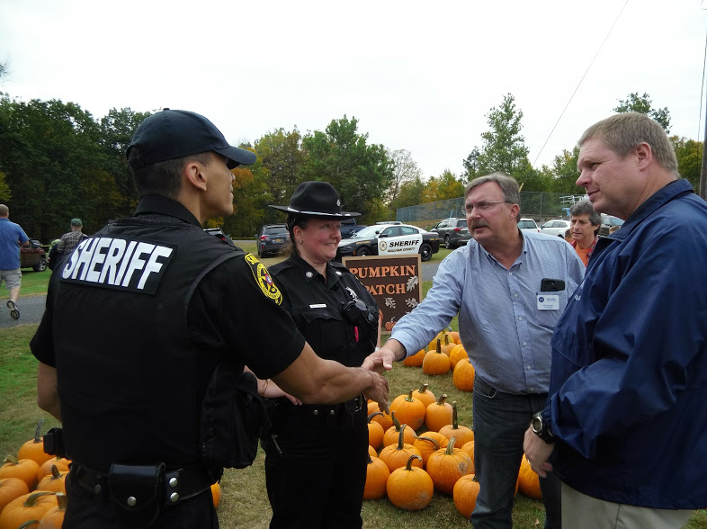 Assemblyman Miller with Sullivan County Sheriffs in attendance.<br />