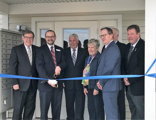 Assemblyman Tague attending the Candlewood Court Apartment Complex opening on Friday, May 3