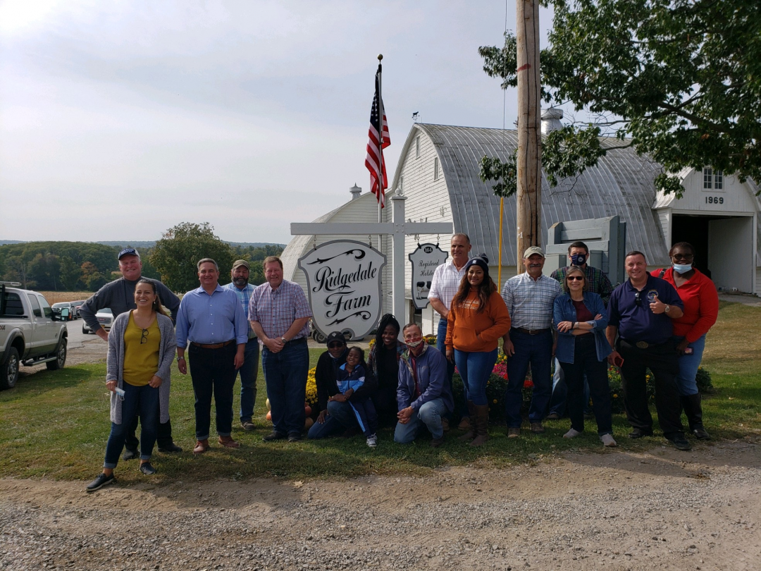 Assemblyman Chris Tague (R,C,I,Ref-Schoharie) led his fellow legislators from across the state and political aisle on a bipartisan tour of farms and agribusinesses in the 102nd Assembly District for t