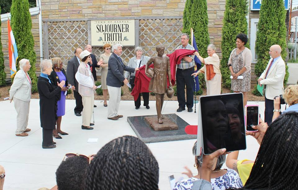 Assemblymember Cahill helps unveil the Sojourner Truth statue in Port Ewen.  The statue was partially funded with a $75,000 New York State Capital Grant secured by Assemblymember Cahill.