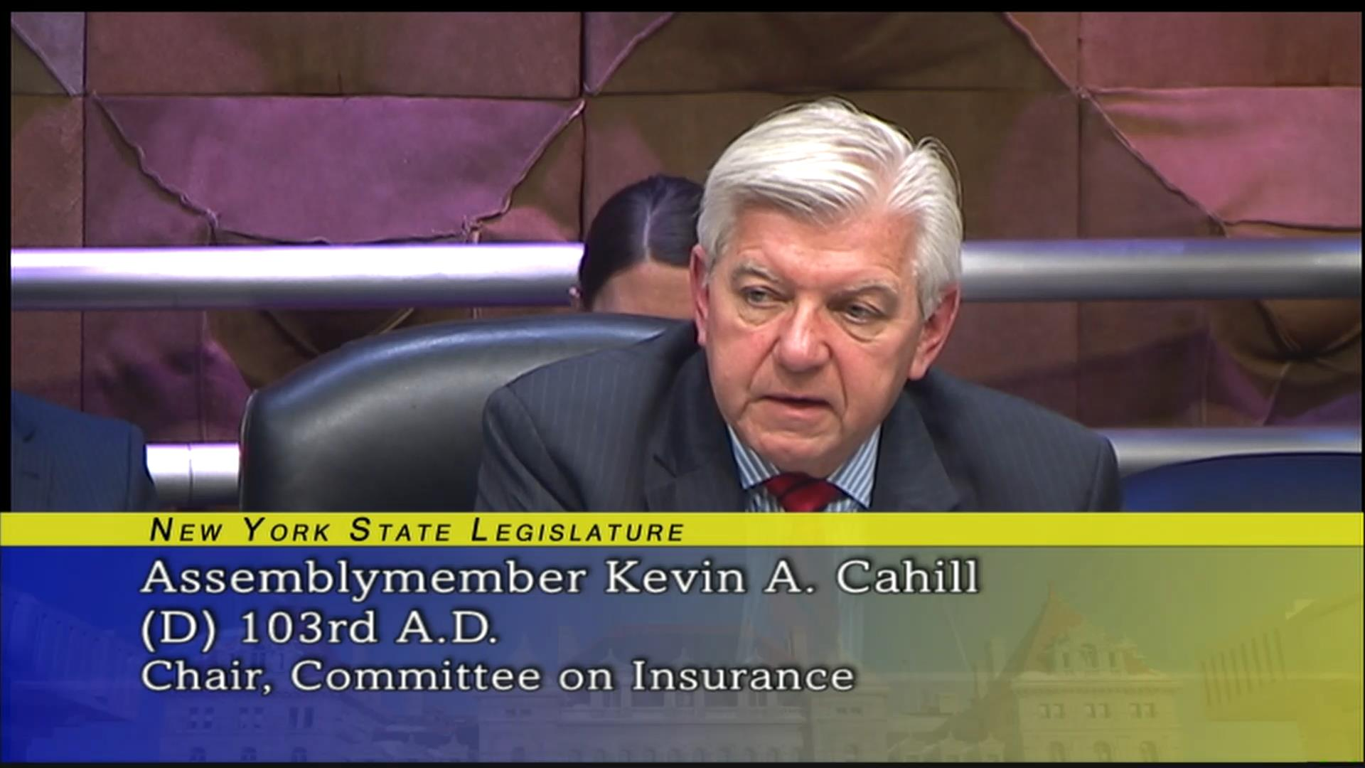 Cahill Questions Choice of Insurance for Consumers