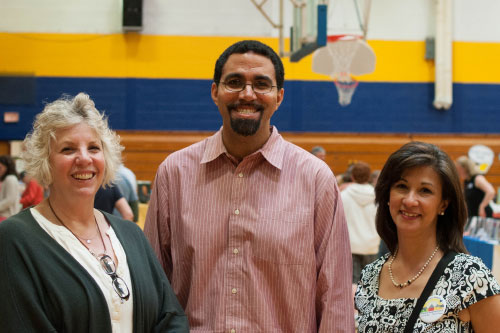 Assemblymember Didi Barrett, New York State Education Commissioner John King, and Assistant Superintendent for Curriculum and Instruction, Maria Suttmeier at the Fifth Annual Hudson Children's Book Festival