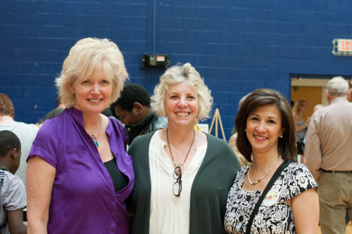 Festival Organizer, Lisa Dolan, Assemblymember Didi Barrett, and Assistant Superintendent for Curriculum and Instruction, Maria Suttmeier at the Fifth Annual Hudson Children's Book Festival
