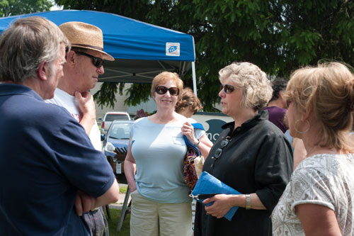 Assemblymember Didi Barrett at the Millerton Farmers Market on May 26th, 2012