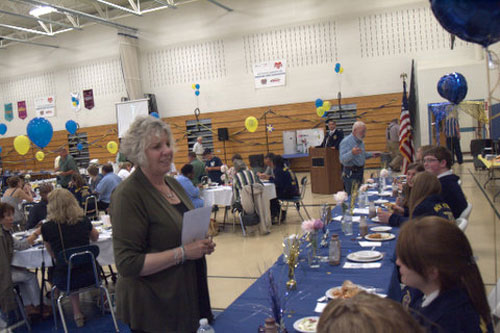 Didi at the Future Farmers of America awards dinner at Pine Plains High School