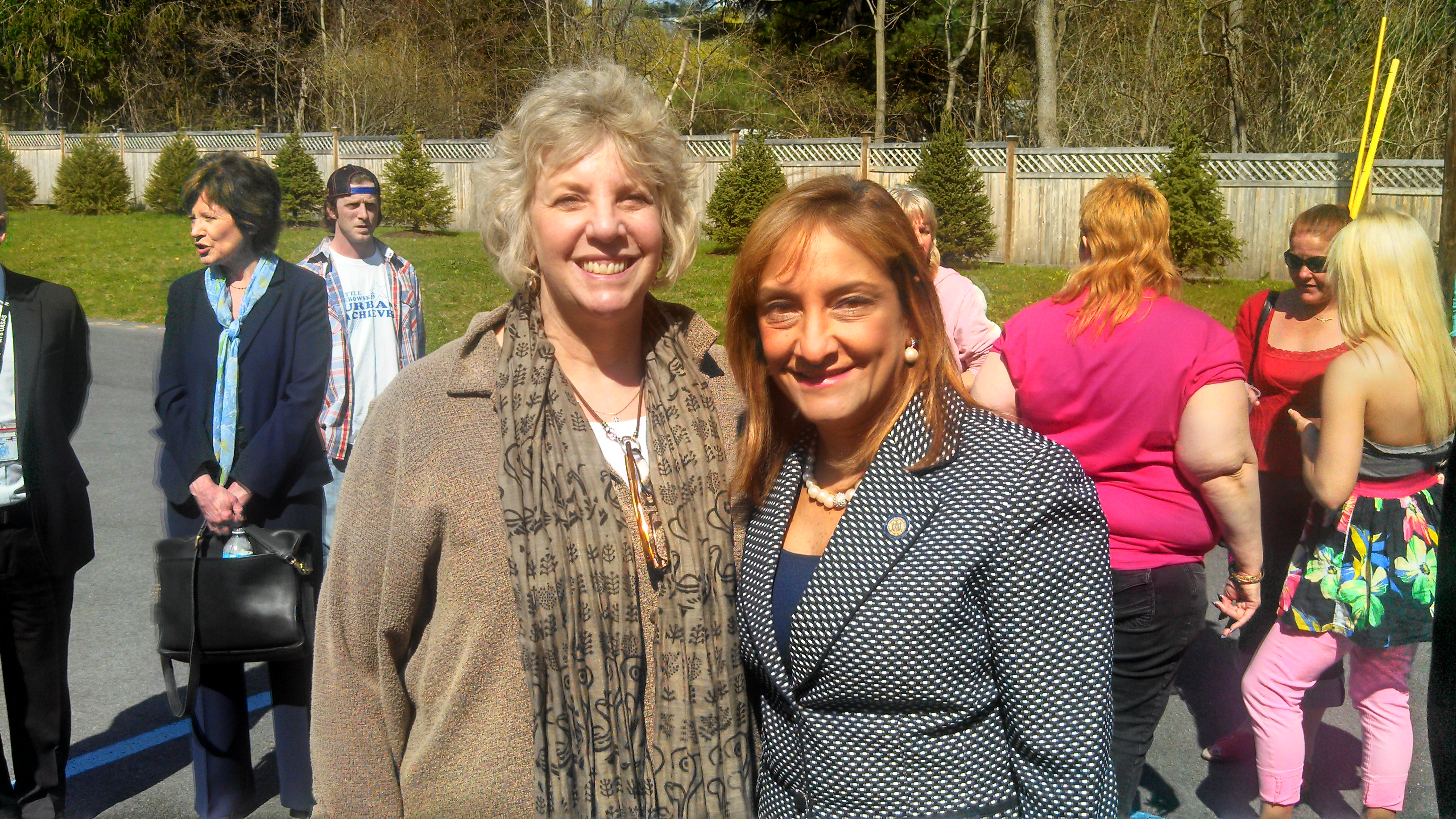Barrett with Commissioner Arlene Gonzalez-Sanchez of the NYS Office of Alcoholism and Substance Abuse Services.