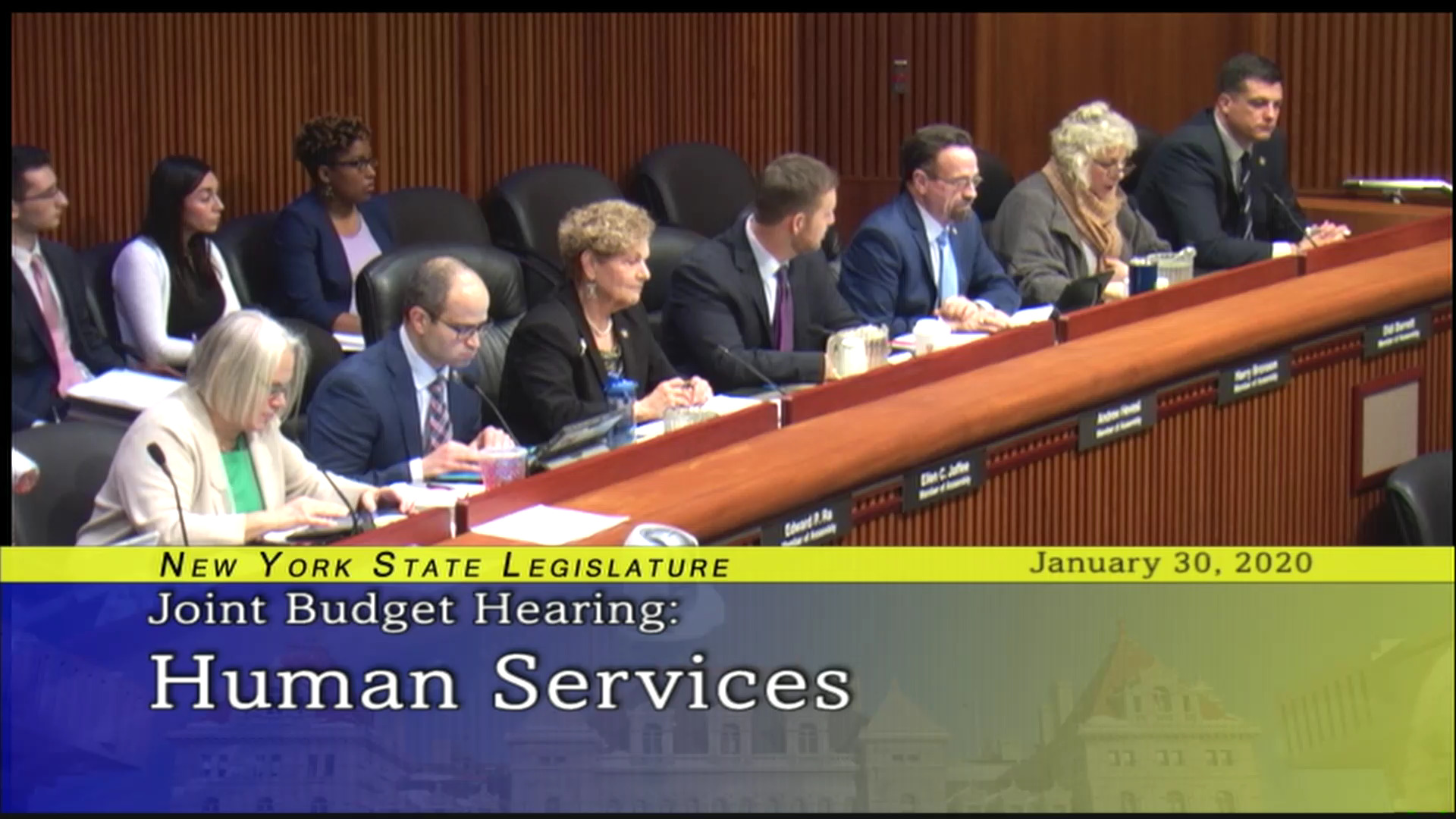 2020 Joint Budget Hearing on Social Services