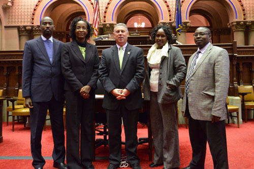Assemblymember John McDonald with visitors from Kenya as part of SUNY�s Center for International Development.