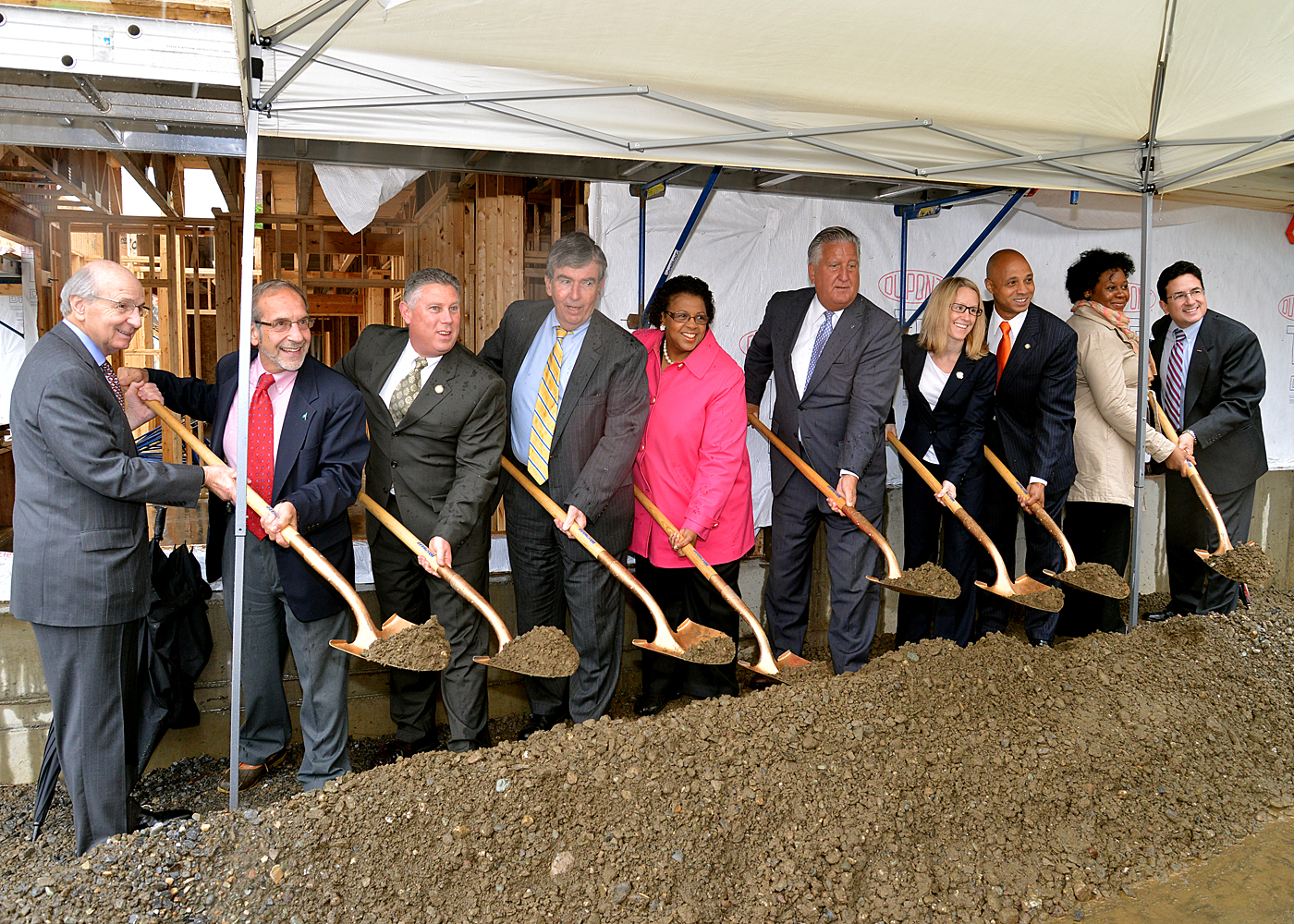 Assemblymember McDonald joins other state and local elected officials at the groundbreaking for Albany South End Revitalization Phase 3 on June 13, 2013.