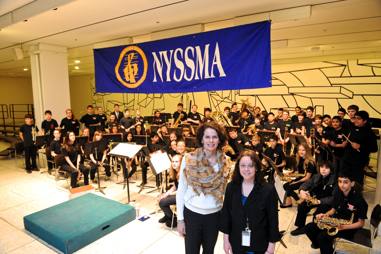 Assemblymember Patricia Fahy attends a performance hosted by NYSSMA.
