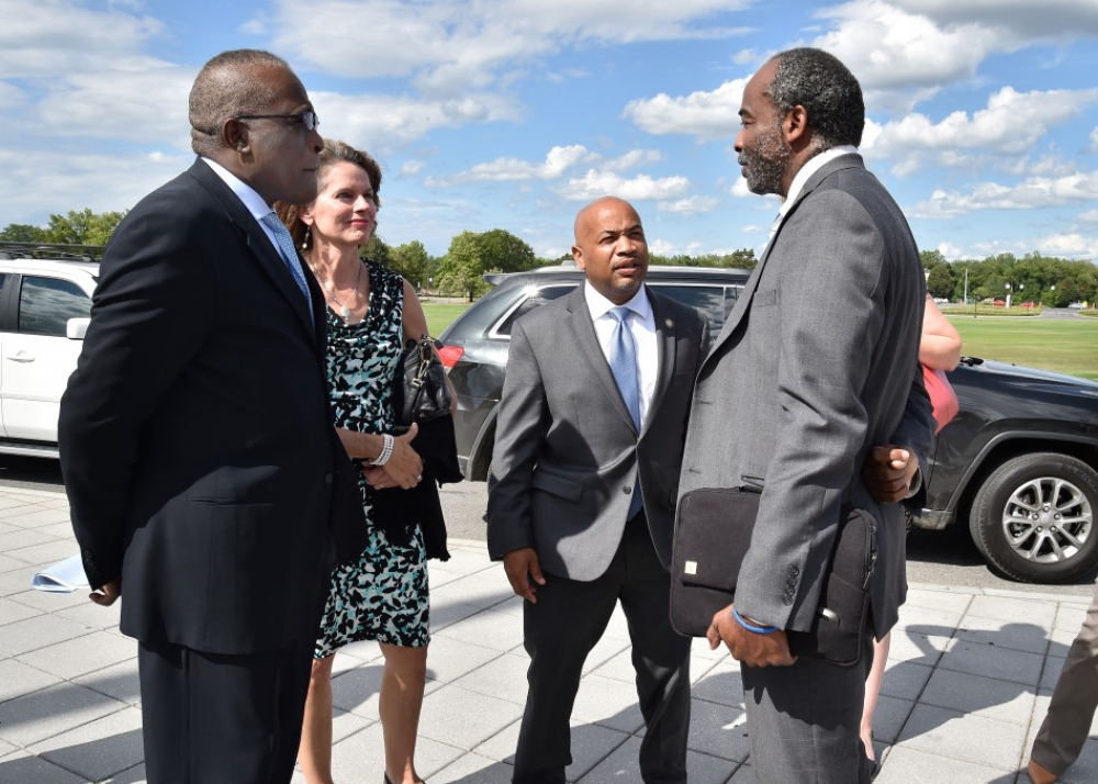 As part of Assembly Speaker Carl Heastie's Upstate tour in August 2015, the Speaker joined both Assemblywoman Fahy and Assemblymember McDonald in a joint tour of the 108th and 109th districts. Starting out at the Cohoes Falls before venturing into downtown Troy, local officials gathered for lunch at the Riverfront Bar and Grill at the Corning Preserve in Albany and were briefed on locally made products from nearby Nine Pin Cider Works and the Albany Distilling Company. After lunch, the tour visited Indian Ladder Farms in Altamont, where the Speaker toured the farm and apple orchard. The tour concluded with visits to the University at Albany and Albany Medical Center's Pediatric Wing.  Joining the tour were Congressman Tonko, Albany County Executive Dan McCoy, Albany Mayor Kathy Sheehan, Common Council President Carolyn McLaughlin, Altamont Mayor James Gaughan, UAlbany President Robert Jones, Hudson Valley Community College President Drew Matonak, UAlbany's Sheila Seery among others. 8-20-15