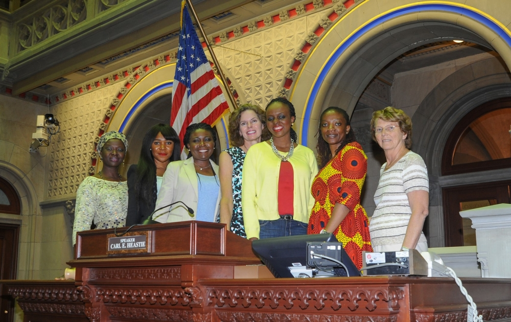 Assemblymember Fahy met in August 2016 with members of the a Nigerian delegation hosted by the International Center of the Capital Region and shared her experience with the NYS Legislative Women's Caucus as well as running for office in New York State.<br />