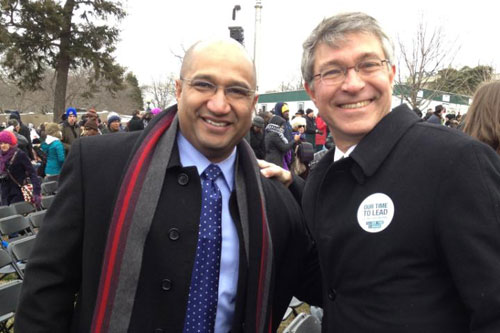 Assemblymember Phil Steck and Albany County District Attorney David Soares at the Second Inauguration of President Barack Obama.