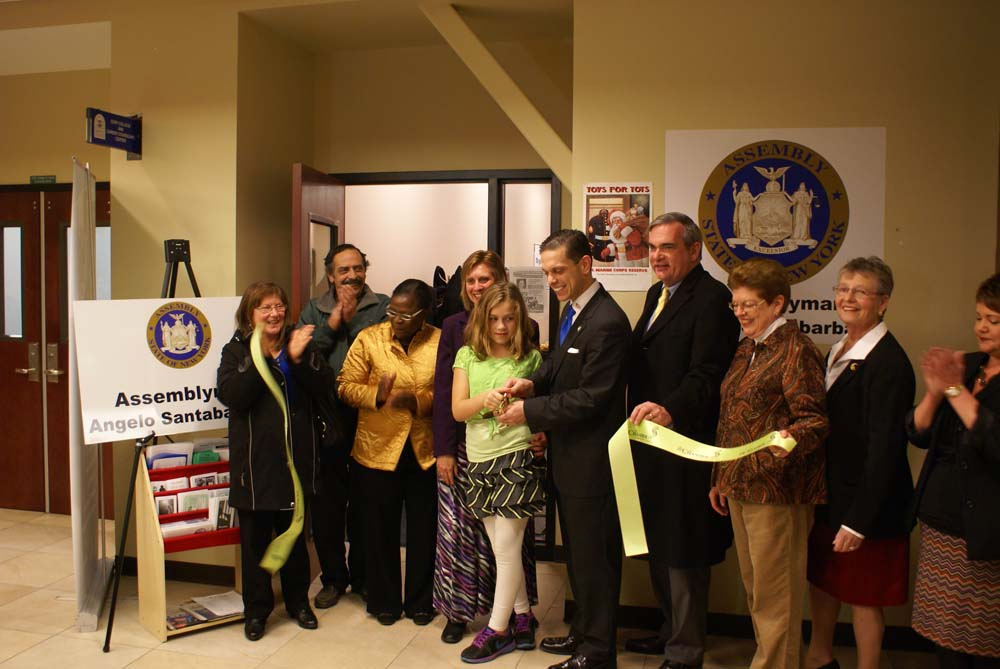 At the Schenectady District Office Ribbon Cutting