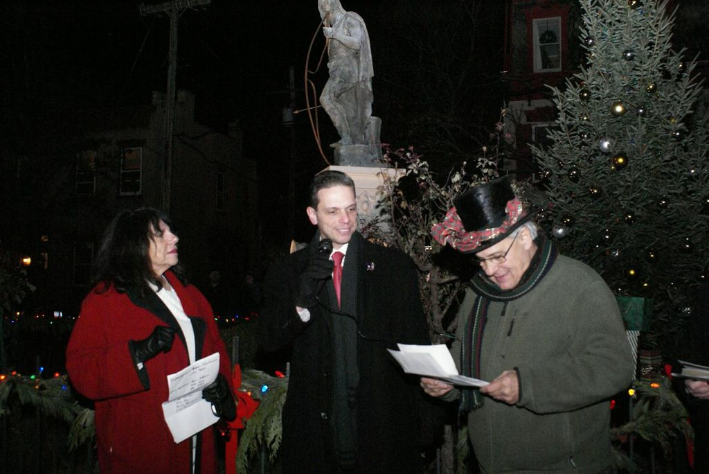 At the Stockade Annual Christmas Tree Lighting, Schenectady