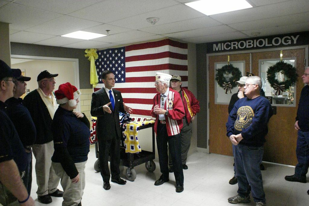 The Holidays for Heroes Card Drop off at the VA Hospital in Albany