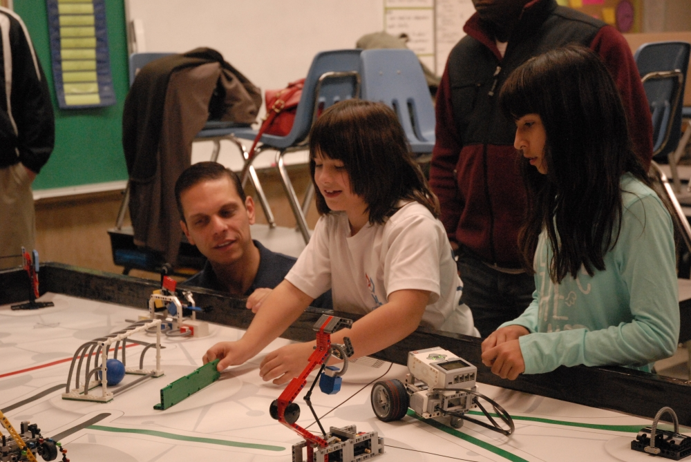 Assemblyman Angelo Santabarbara visited the students from the Duanesburg Central School District�s FIRST LEGO League club and high school students in Project Lead The Way courses. The district is using $50,000 in discretionary aid secured by Santabarbara to start a grade 7-12 First Tech Challenge program and a grades 9-12 First Robotics team.