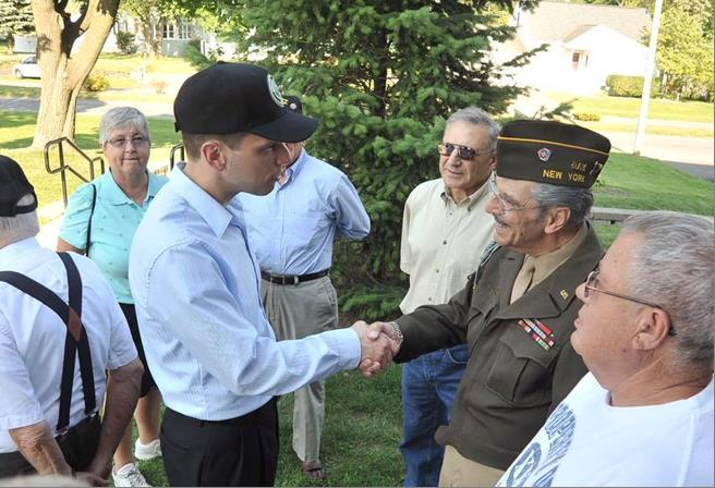 Every day is a good day to thank a veteran.  Assemblyman Santabarbara thanks WWII Veterans, Louis Lupe from Rotterdam, NY.<br />