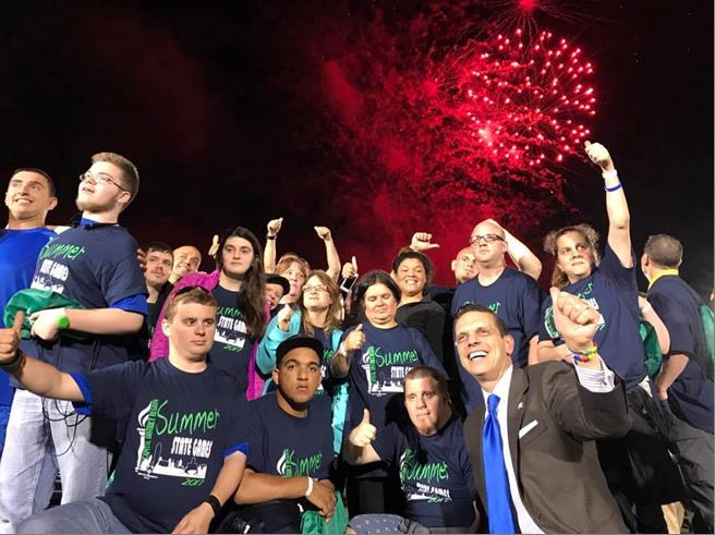 Celebrating with the Capital Region Special Olympics at the Opening Ceremonies for the 2017 Summer Games at Siena College June 16th, 2017.<br />&nbsp;