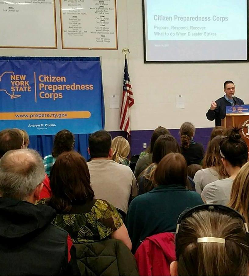 Citizens Preparedness Training at the Duanesburg High School on March 17th 2017 with the New York National Guard, the Division of Homeland Security and the State Office of Emergency Management here to help our local community prepare for severe weather events that affect our area.<br />&nbsp;