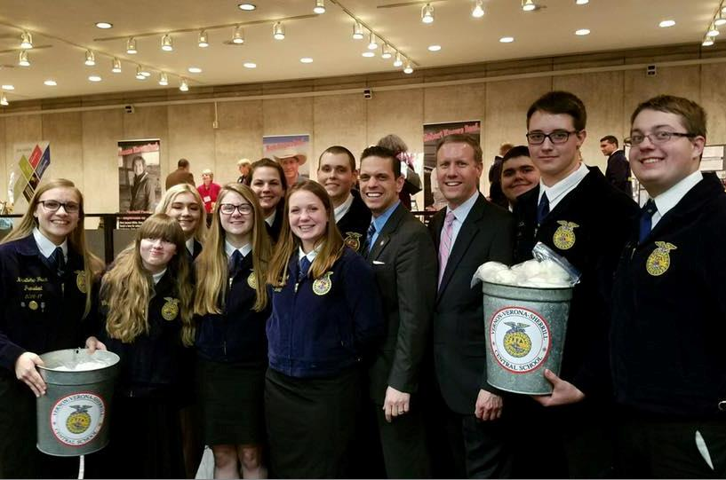 Joined by Future Farmers of America from Montgomery County at Taste NY, March 7th, 2017.<br />&nbsp;