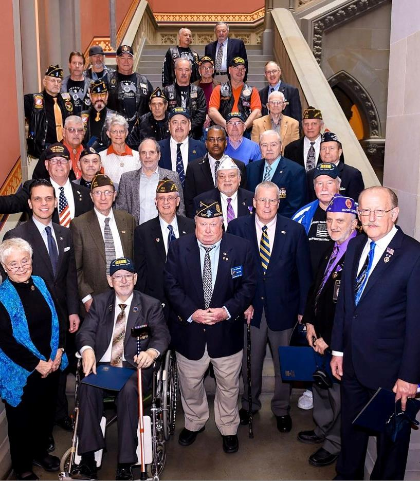 Vietnam Veterans of America join Assemblyman Santabarbara today at the State Capitol for Vietnam Veterans Day. Thank you for your service. God Bless our veterans.&nbsp; March 29th, 2017<br />&nbsp;