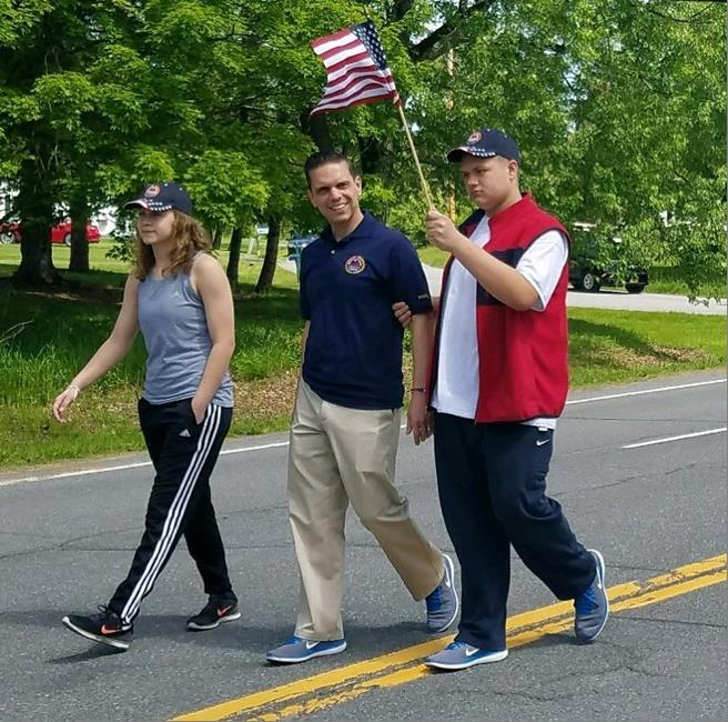 Assemblyman Santabarbara marched with his children, Marianna and Michael, in the Delanson Volunteer Fire Department Memorial Day Parade.&nbsp;&nbsp; May 27th, 2017<br />&nbsp;