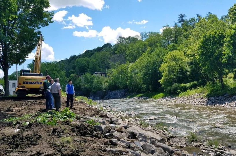 On June 2nd, 2017, Assemblyman Santabarbara toured the Village of Fort Plain with local officials and representatives from the DEC to talk about flood mitigation.<br /><br />&nbsp;