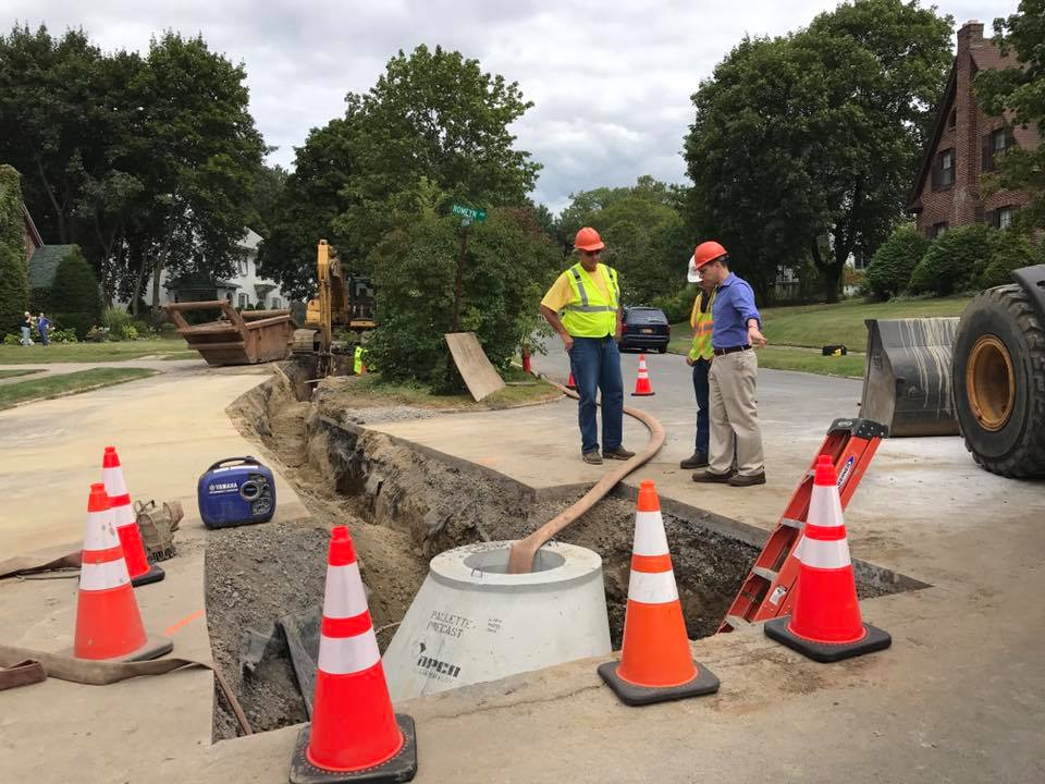 On August 27<sup>th</sup>, 2017, Assemblyman Santabarbara toured the construction site for an update on the emergency infrastructure repairs now underway on Pershing Road in the City of Amsterdam. With this project, we are seeing for the first time how the Water Infrastructure Emergency Assistance Program I established in this year&#39;s state budget can help upstate communities make emergency repairs when they are needed.<br />&nbsp;